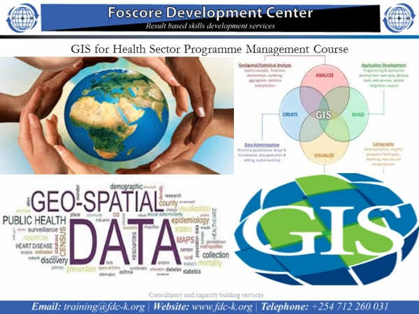 GIS for Health Sector Programme Management Course :55618 -