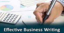 Effective Business Writing Skills