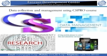 Data Collection and Management using CSPRO Course