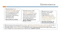 Training on Development of Indicators for Effective Governance