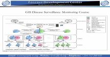 GIS Disease Surveillance Monitoring Course