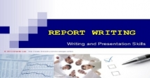 Training on Report writing skills