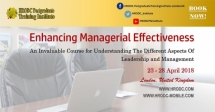 Enhancing Managerial Effectiveness